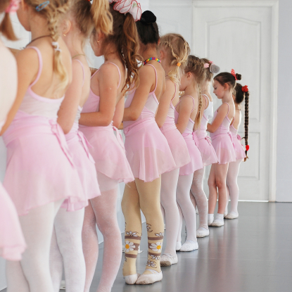 Meisjes in de balletles